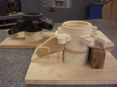 Оснастка деревянная для колеса